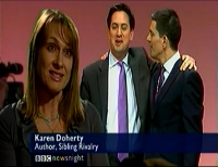 Karen on BBC Newsnight